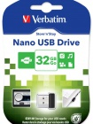 32GB USB Flash 2.0 NANO Store\'n\'Stay černý Verbatim P-blist