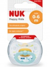 NUK Dudlík HAPPY KIDS,LA,V1 (0-6m.) box - bílý slon